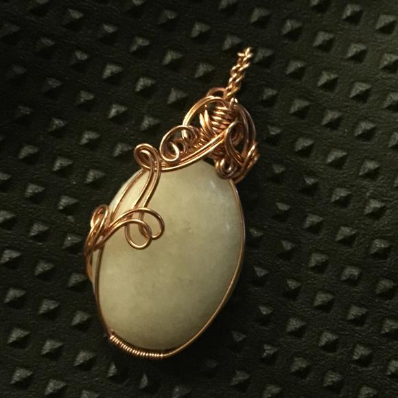 Jewelry wire wrapped cabochon pendant poshmark m5ac643d03b1608b6dffa0f8d aloadofball Choice Image